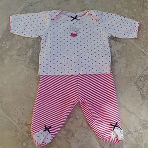 Pants and top set newborn